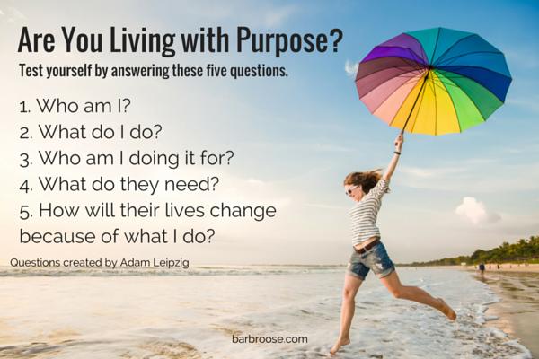 5 questions on purpose - adam leipzig