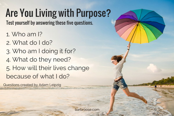5 questions on purpose - adam leipzig