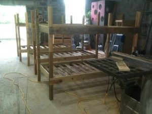 Here are the bunkbeds that Steve and Tim built.