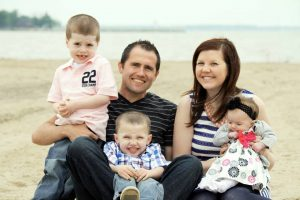 Luke and Sarah with their children, Jackson, Asa and Atalaya