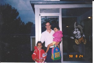 Matt, Kate and Samantha on Kate's first day of kindergarten. Seems like yesterday...