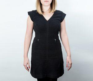 InStyle's Social Media Assistant Editor, Jennifer Davis' black dress