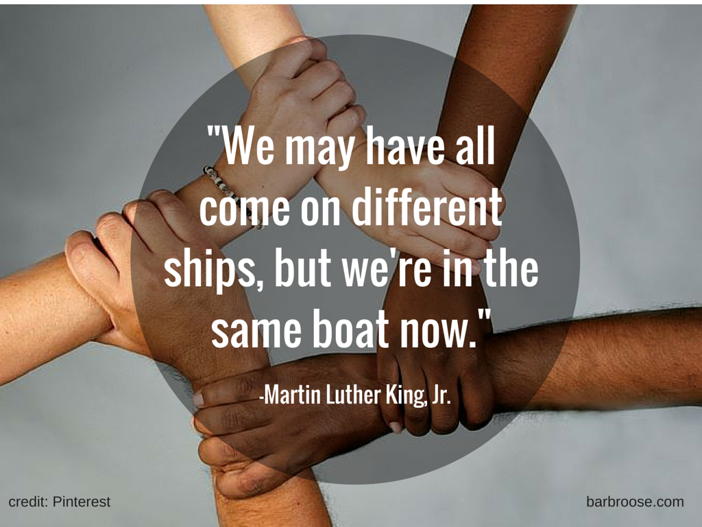 MLK Quote - different ships