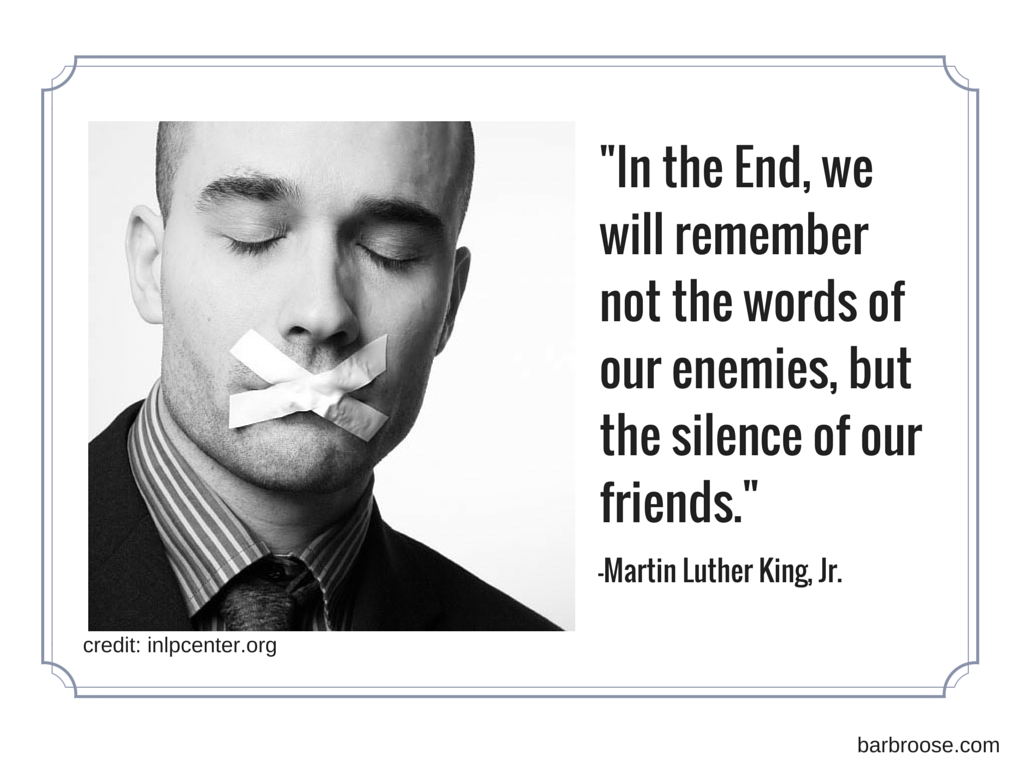 MLK - silence quote
