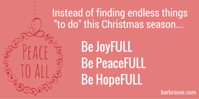 Four ways to be FULL of Christmas!